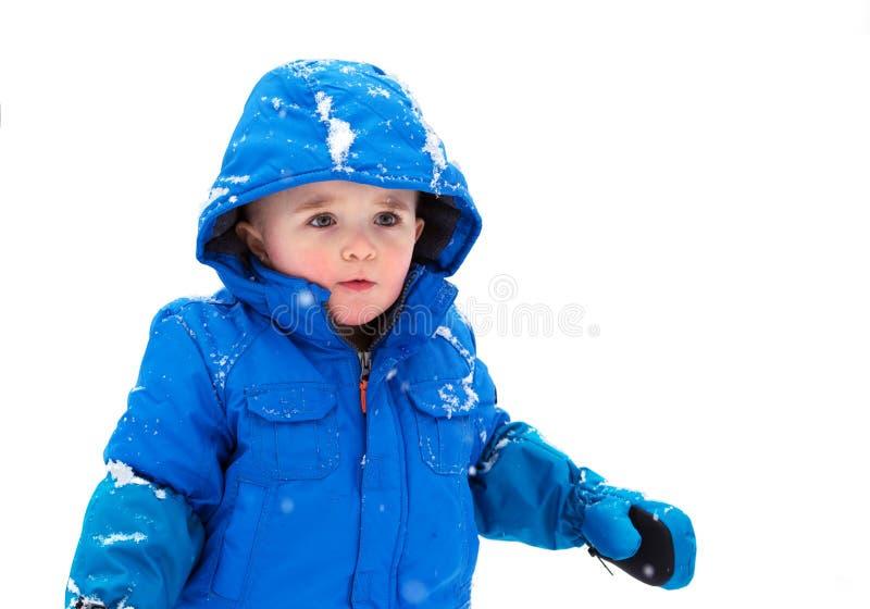 Jongen in een Geïsoleerde Snowsuit - royalty-vrije stock foto's