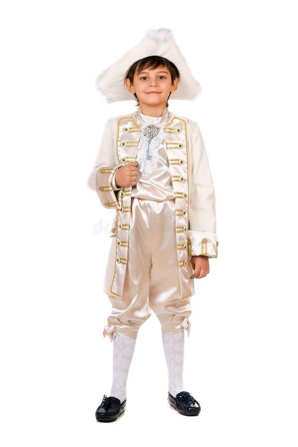 Jongen in een historisch kostuum royalty-vrije stock afbeeldingen