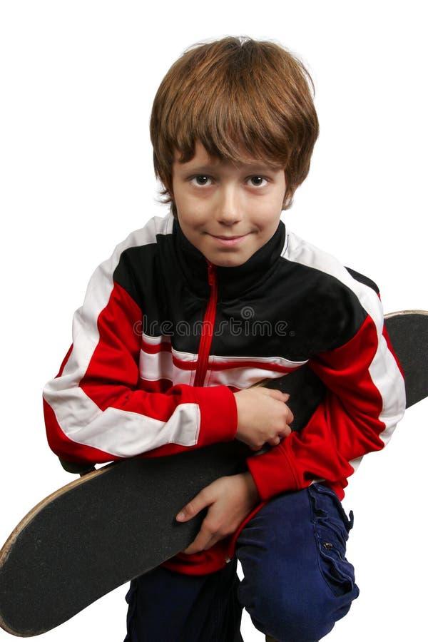 Jongen en skateboard royalty-vrije stock foto