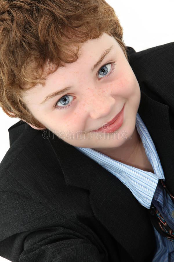 Jongen in Flodderig Kostuum royalty-vrije stock foto's