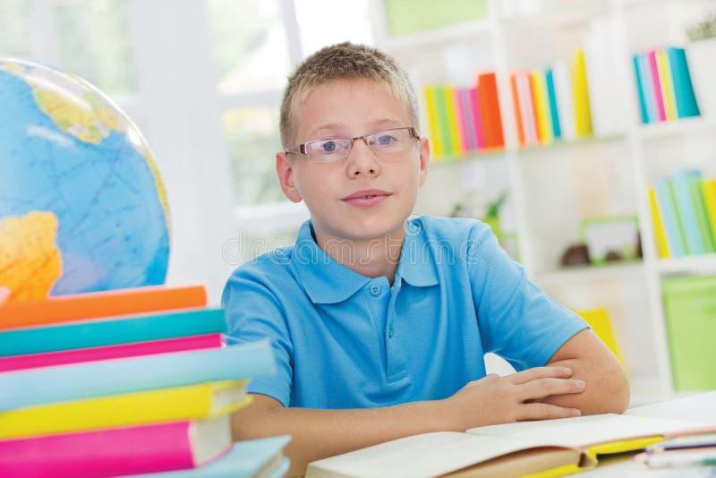 Jongen het bestuderen stock fotografie