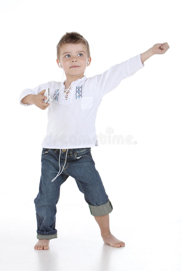 jongen het dansen stock afbeelding