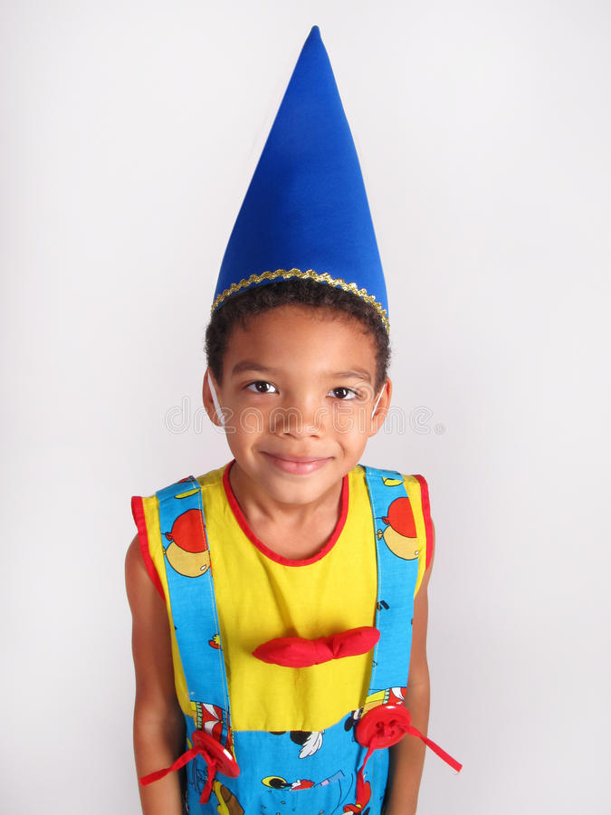 Jongen in kostuumkostuum royalty-vrije stock fotografie