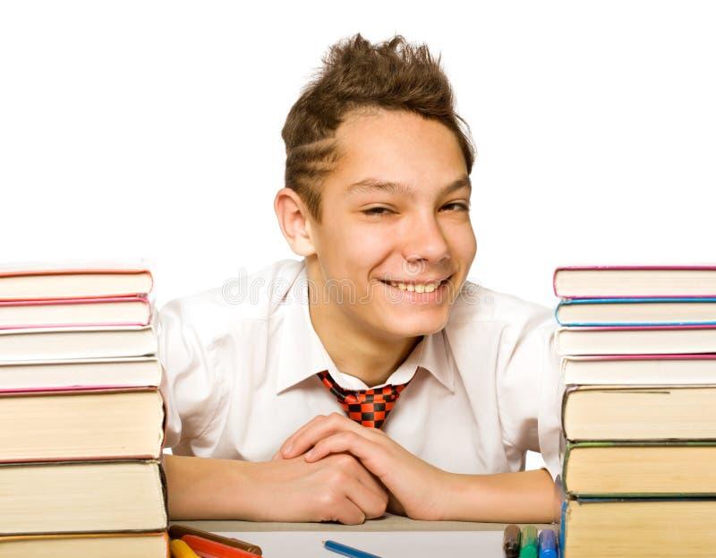 Jongen met boek stock foto