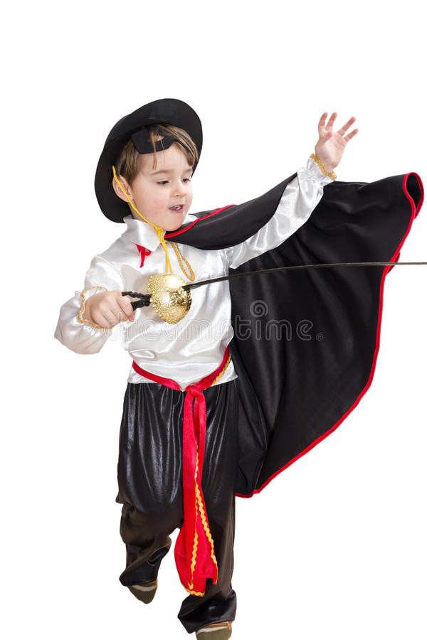 Jongen met Carnaval kostuum royalty-vrije stock fotografie