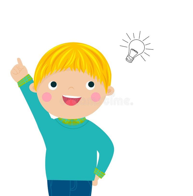 Jongen met een goed idee vector illustratie