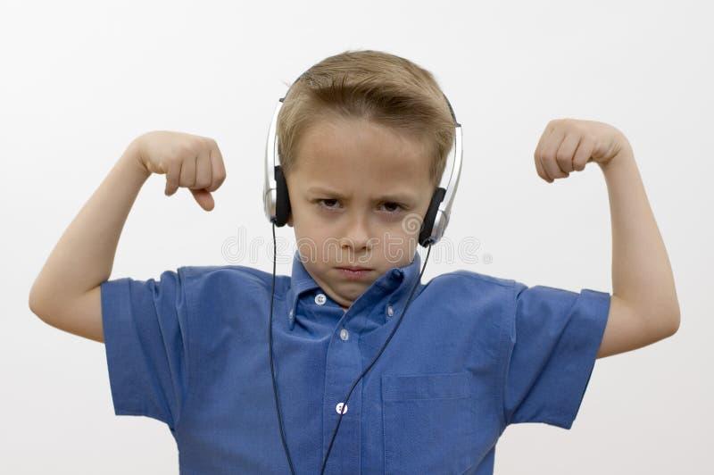 Download Jongen/muziek/wit stock afbeelding. Afbeelding bestaande uit licht - 286263
