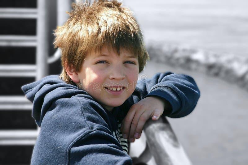 Jongen op Schip royalty-vrije stock foto's