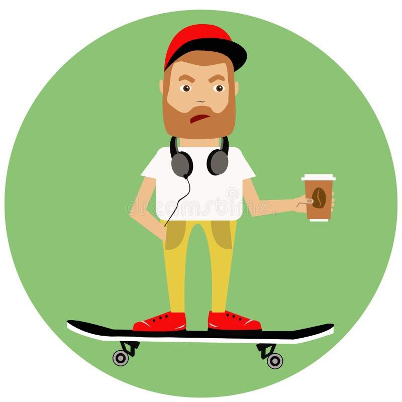 Jongen op skateboard royalty-vrije stock fotografie