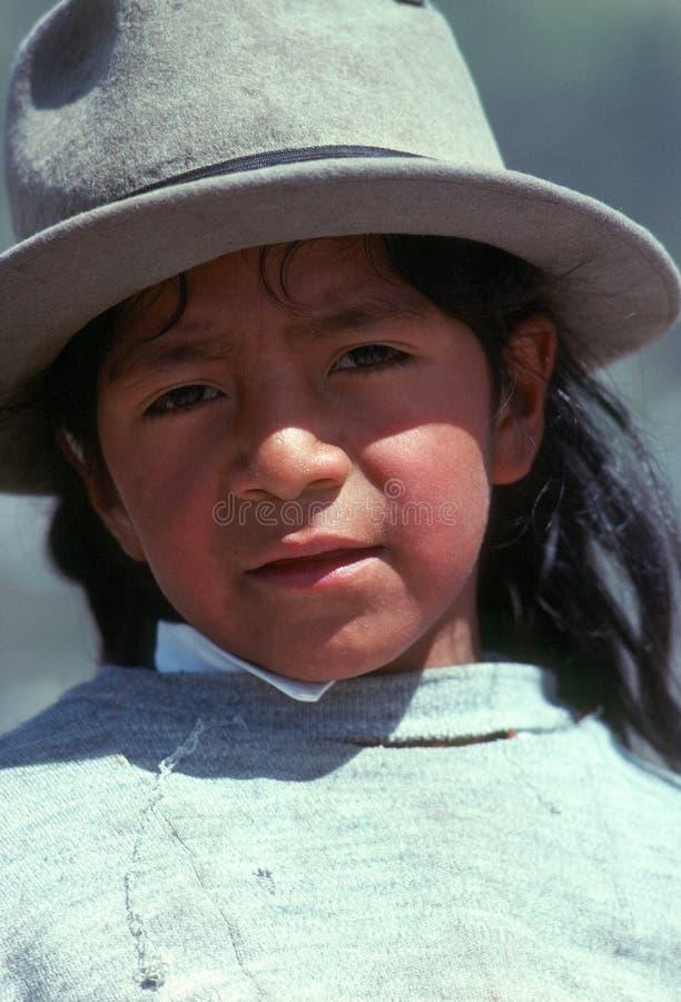 Jongen, Quito royalty-vrije stock fotografie