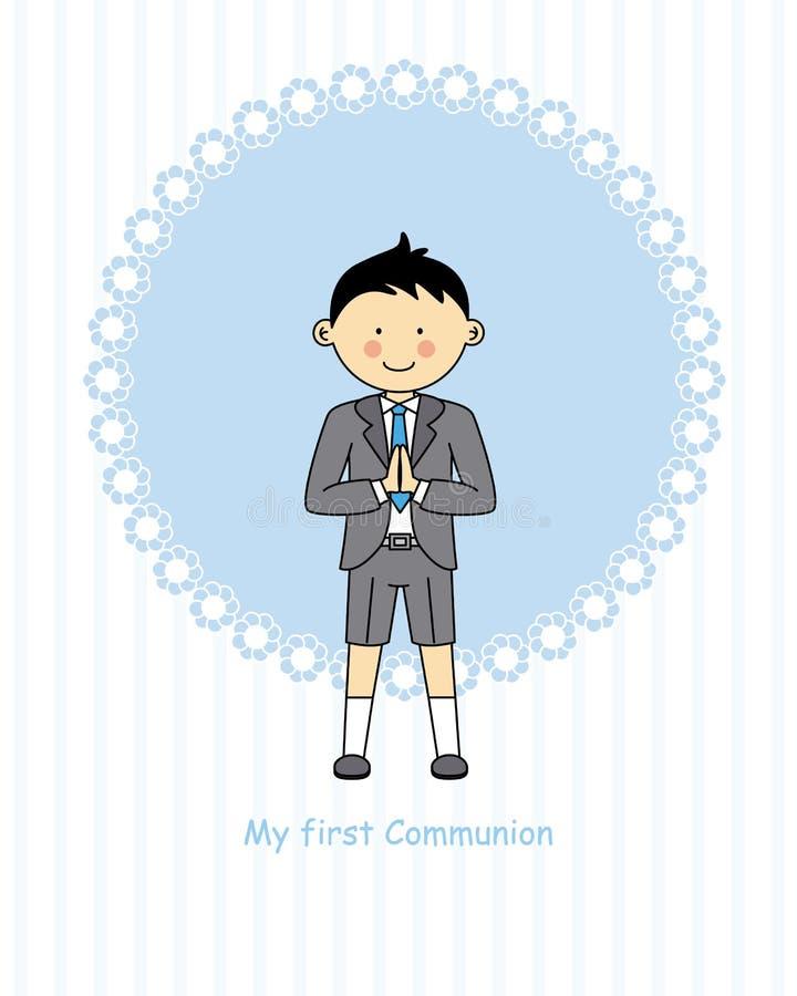 Jongens eerste Heilige Communie vector illustratie