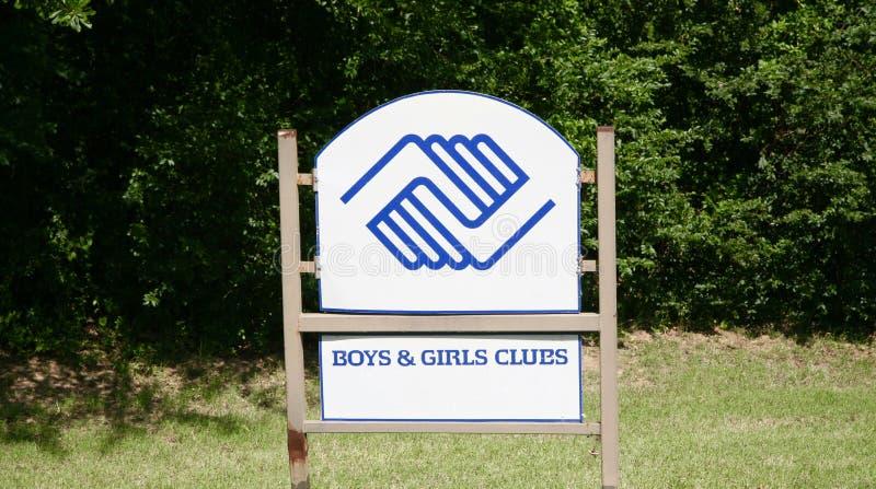 Jongens en Meisjesclub royalty-vrije stock afbeeldingen