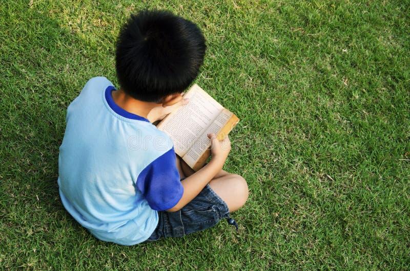 Jongens het Lezen stock afbeeldingen
