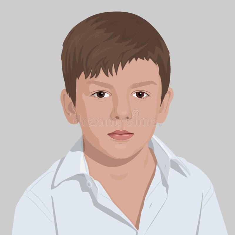 Jongens vectorportret stock fotografie