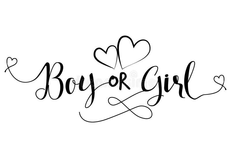 Jongensod Meisje? ` - Zwangere vectorillustratie vector illustratie