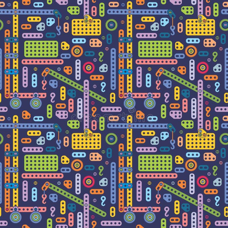 Jongensstuk speelgoed patroon stock illustratie