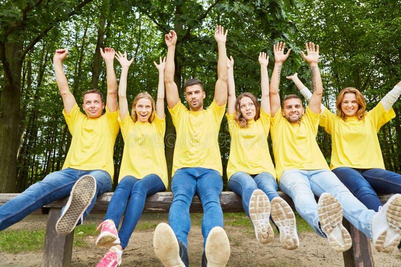 Jongeren als succesvol team royalty-vrije stock afbeelding