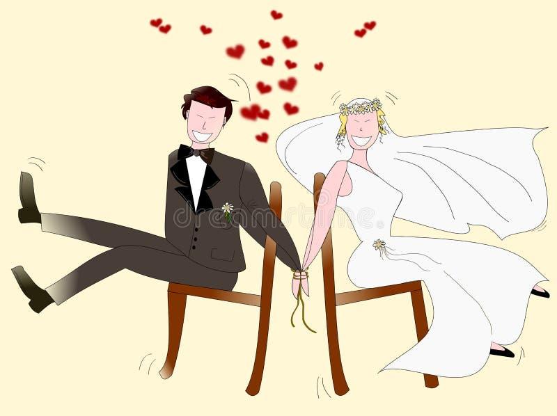 Jonggehuwden royalty-vrije illustratie
