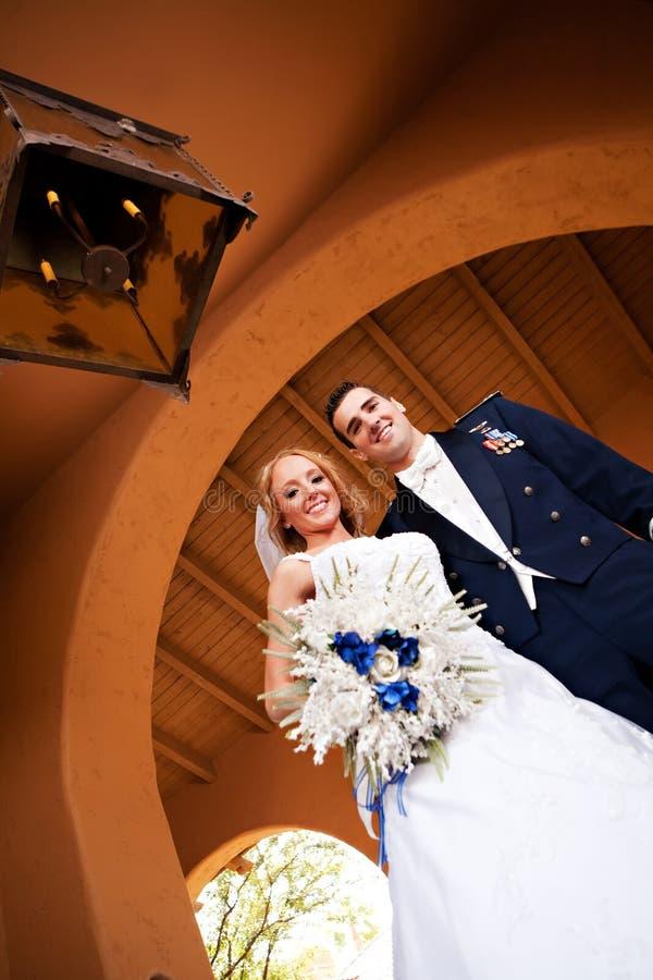 Jonggehuwdepaar royalty-vrije stock foto
