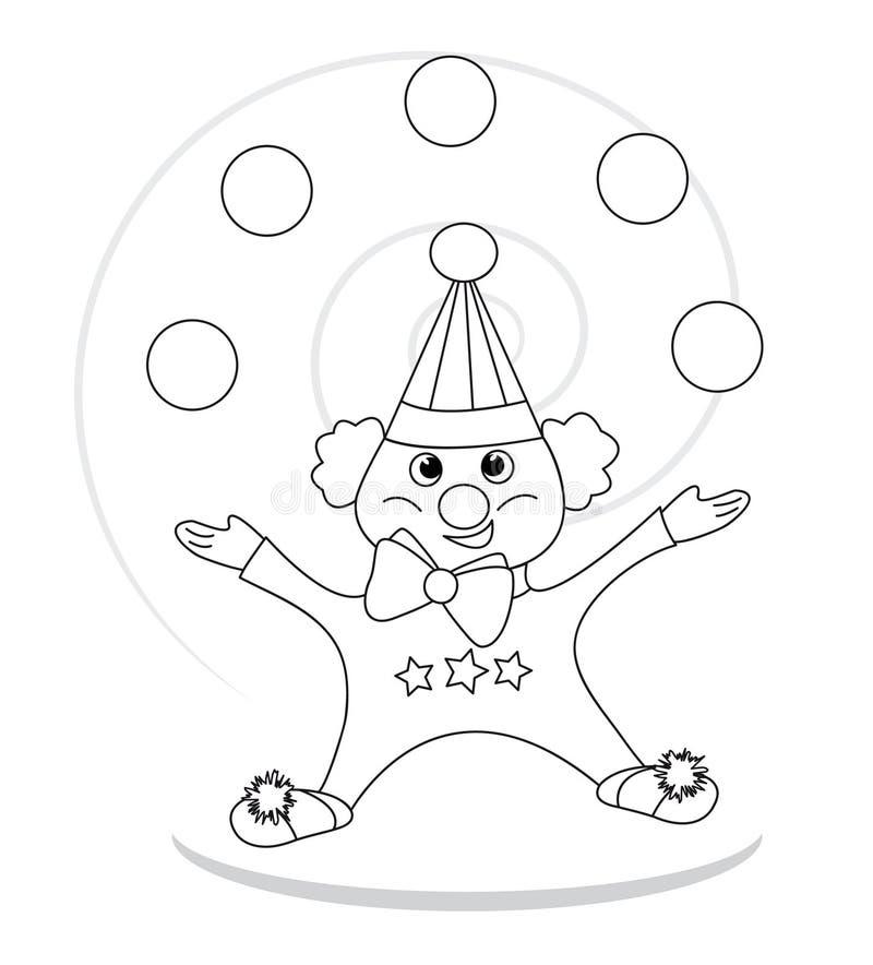jonglera för clown royaltyfri illustrationer
