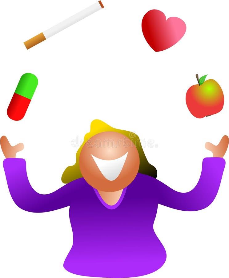 jonglera för hälsa stock illustrationer