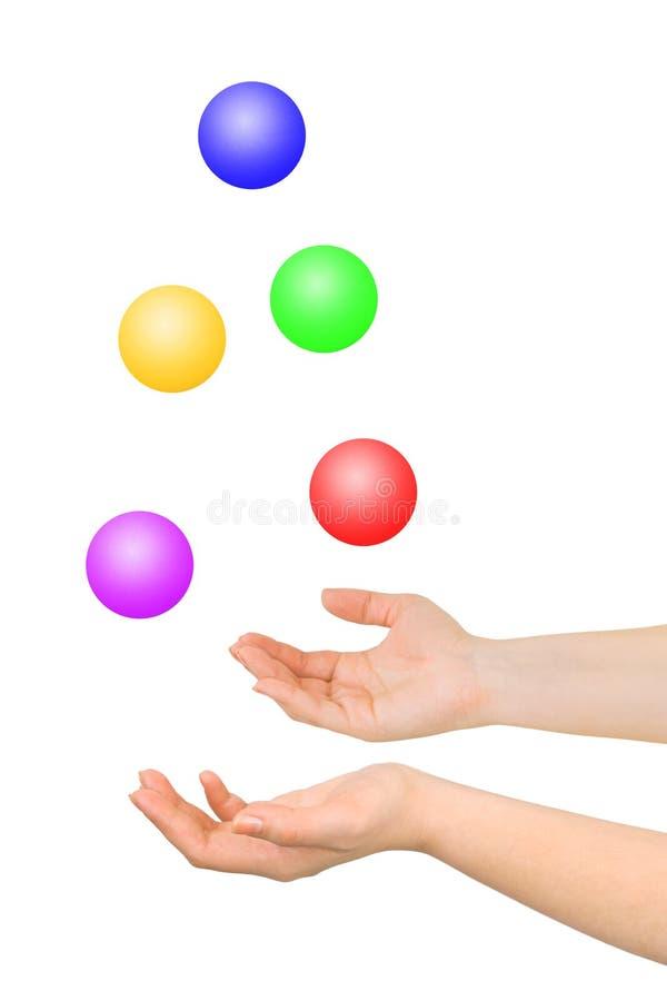 jonglera för händer arkivbilder