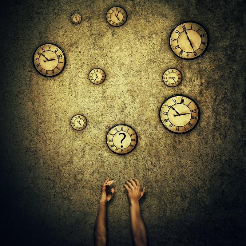 Jonglera för klockor arkivbild