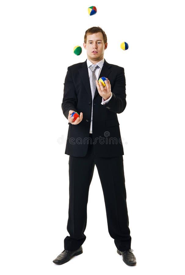jonglera man royaltyfria bilder