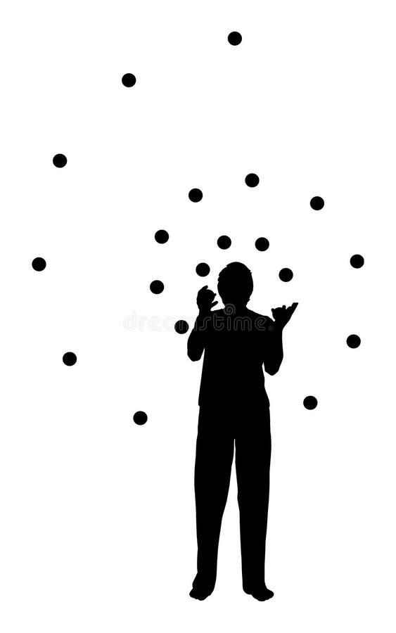 jonglera man royaltyfri illustrationer