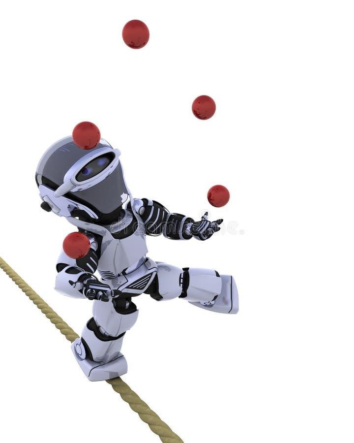 jonglera robot stock illustrationer