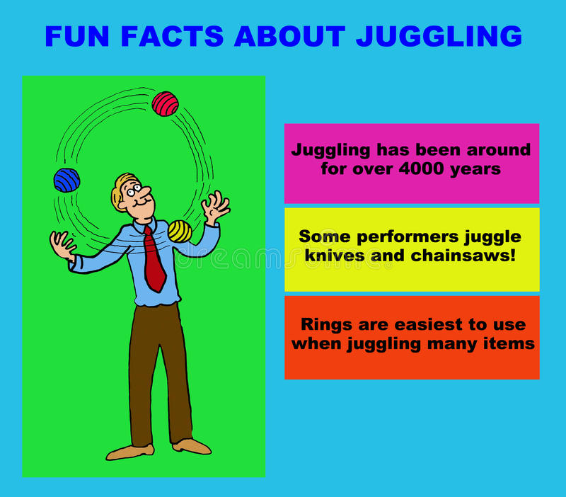 jonglerie illustration de vecteur