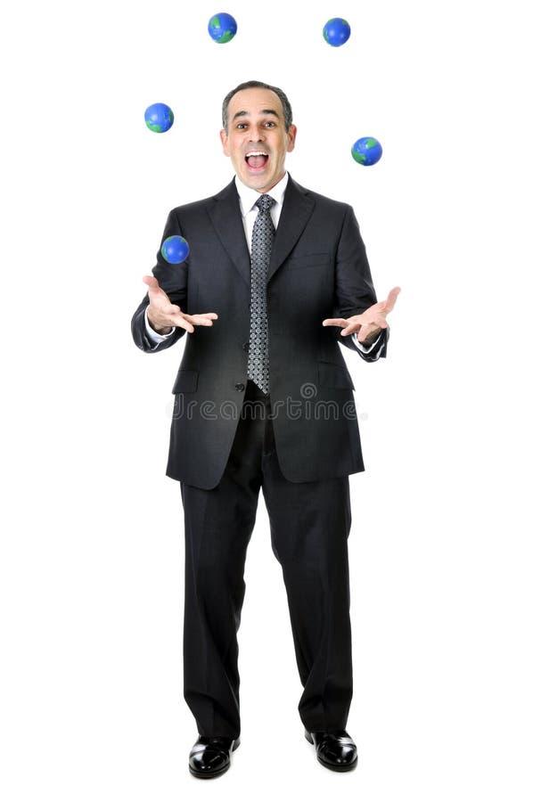 jonglerie d'homme d'affaires photo libre de droits