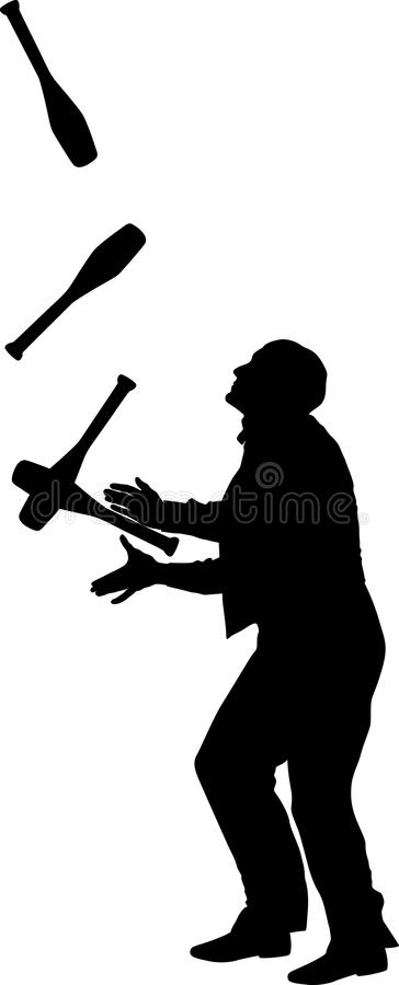 jongleur stock abbildung
