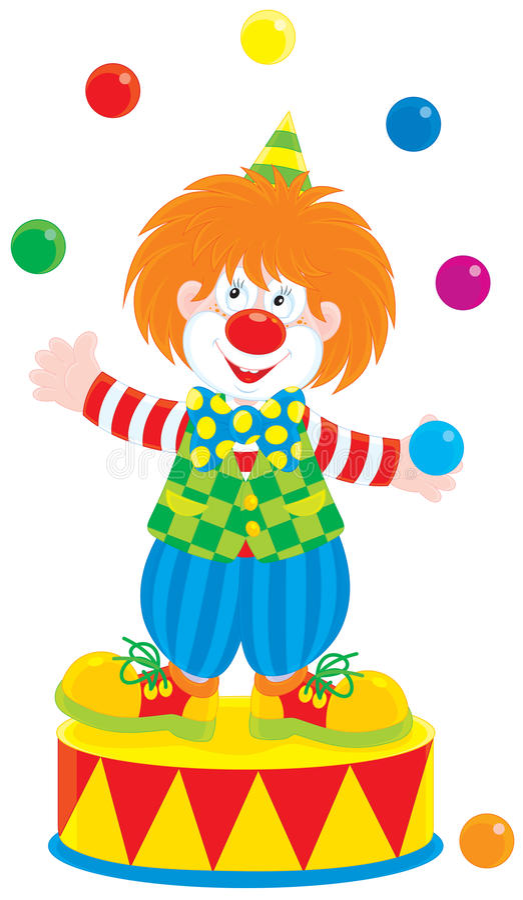 jongleur de clown de cirque illustration de vecteur illustration du comics haired 24480599. Black Bedroom Furniture Sets. Home Design Ideas