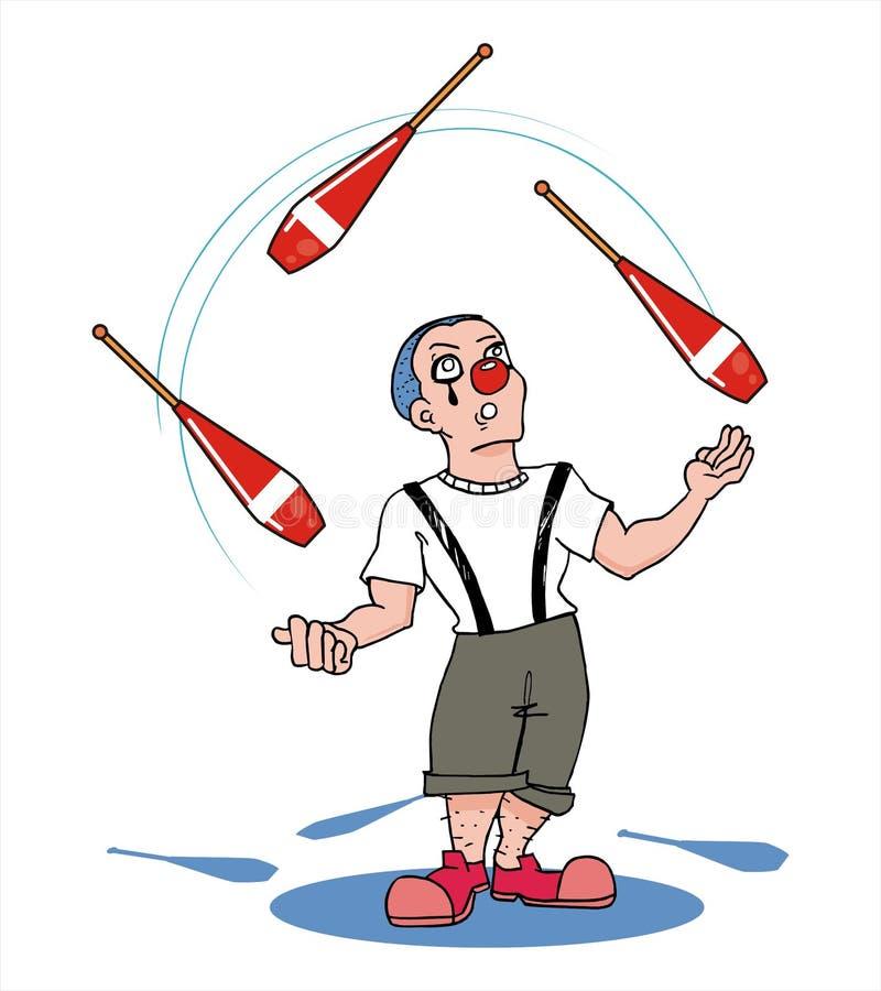 Jongleur junge stock abbildung illustration von getrennt - Image jongleur cirque ...