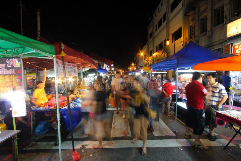Jonker spacer, Melaka, Malezja obrazy royalty free