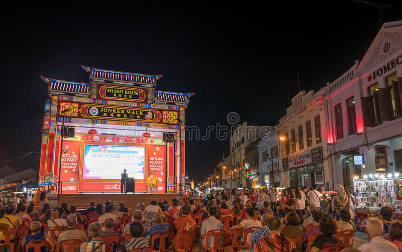 Jonker Street sells everything from tasty foods to cheap keepsakes royalty free stock photo