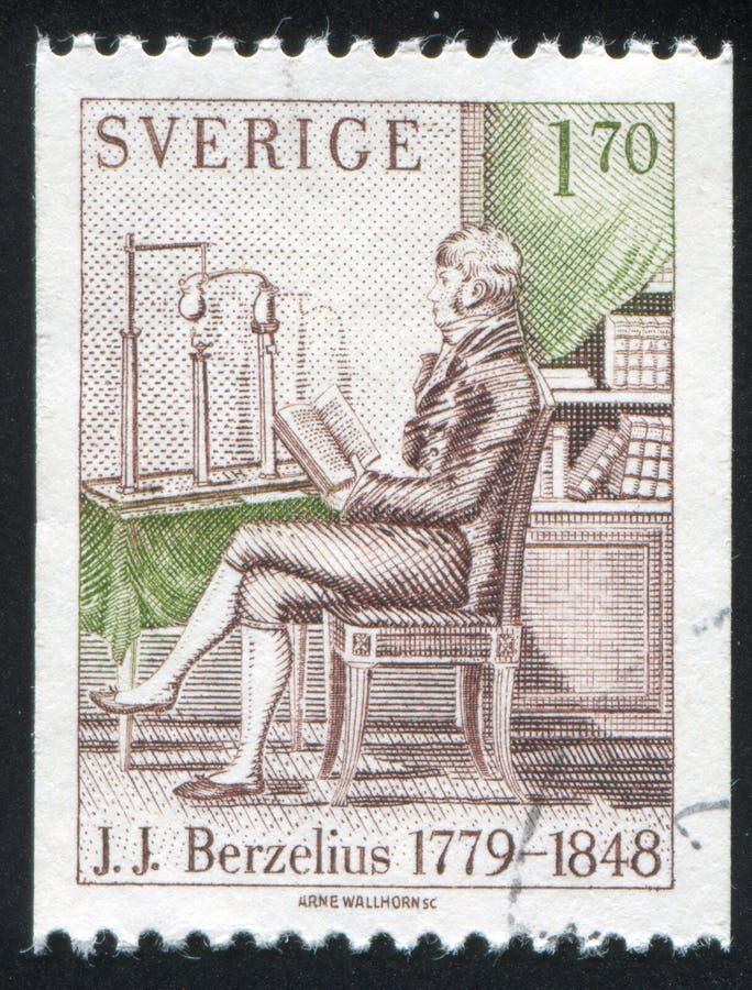 Jons Jacob Berzelius. SWEDEN - CIRCA 1979: stamp printed by Sweden, shows Jons Jacob Berzelius, circa 1979 royalty free stock images