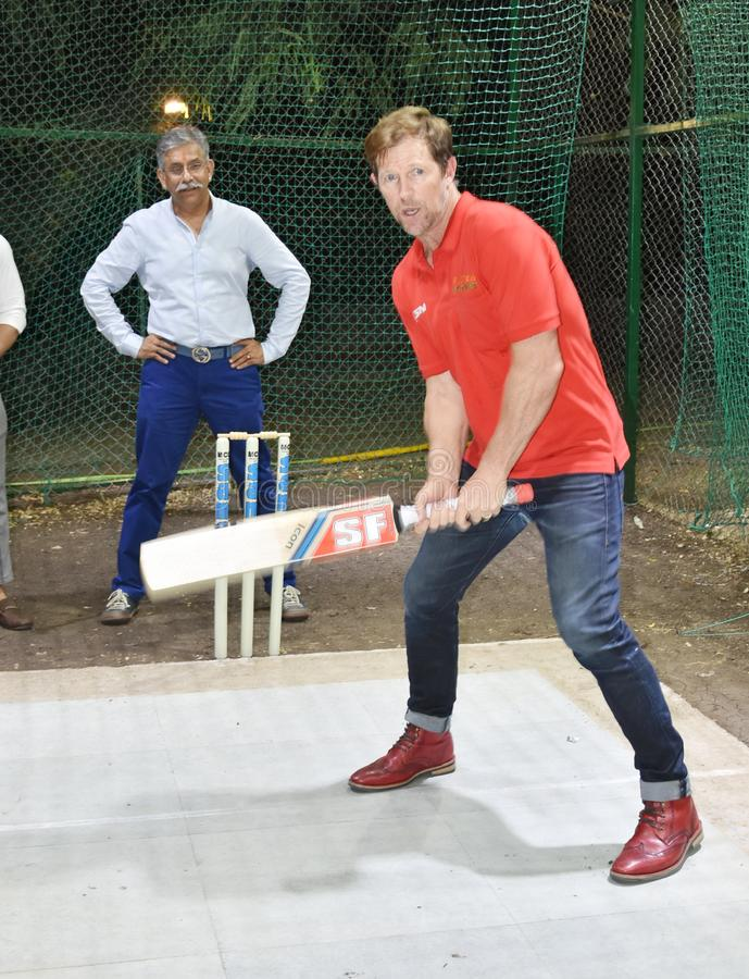 Jonty rhodes visit in Bhopal, India royalty free stock photos
