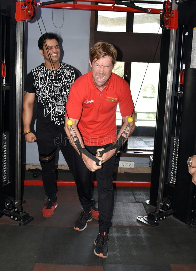 Jonty rhodes visit in Bhopal, India stock photography