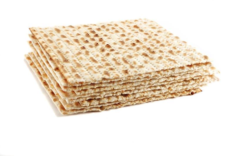 Joods de vakantie ritueel voedsel van de Pascha - matza stock foto's