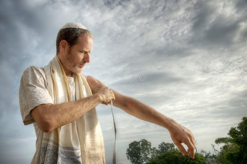 Joods Gebed stock foto