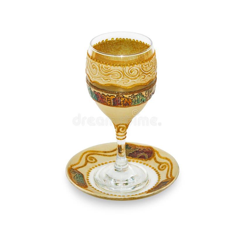 Joods Glas voor wijn stock foto's