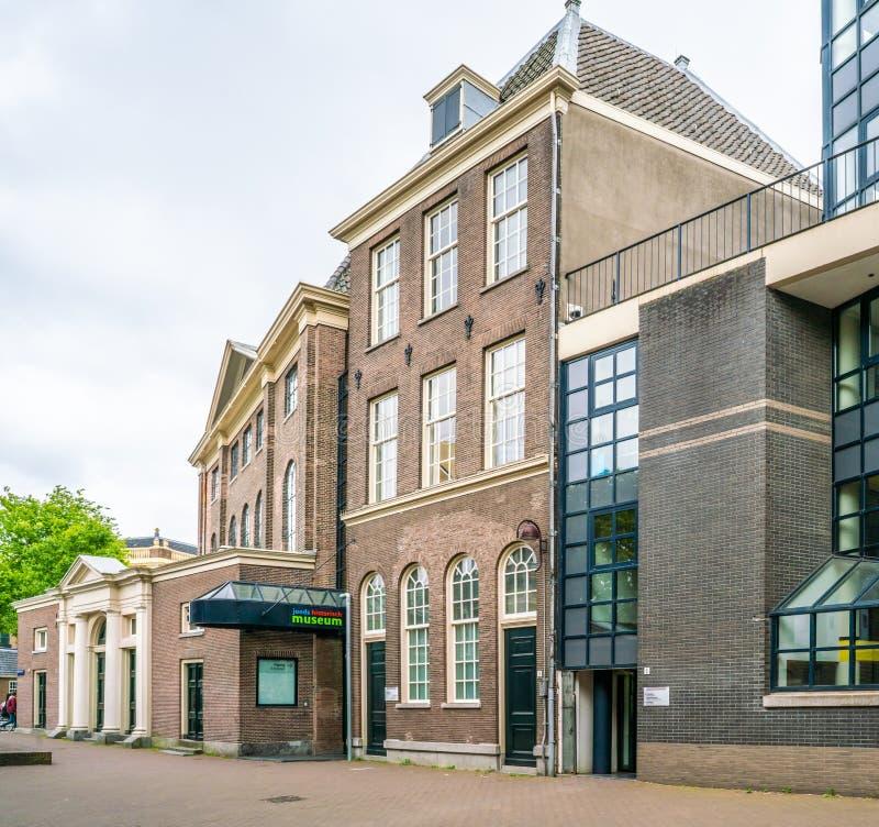 Joods historisch museum op Nieuwe Amstelstraat in het oude Joodse kwart van Amsterdam stock foto