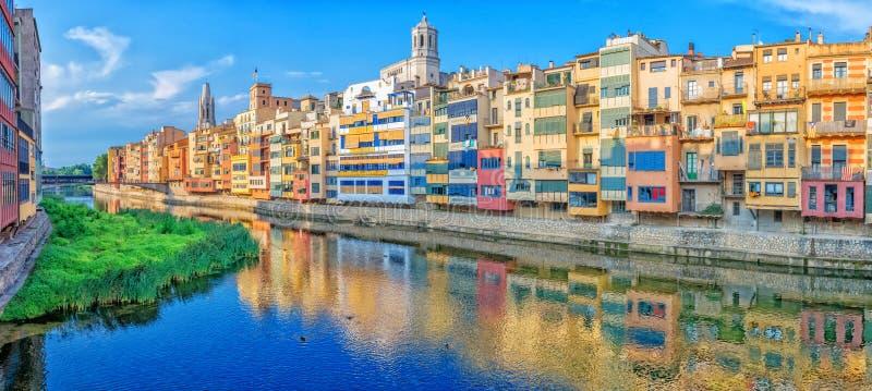 Joods Kwart in Girona spanje stock afbeeldingen