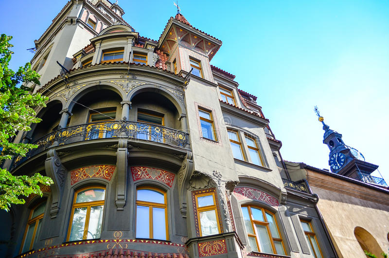 Joods Kwart in Praag royalty-vrije stock afbeeldingen