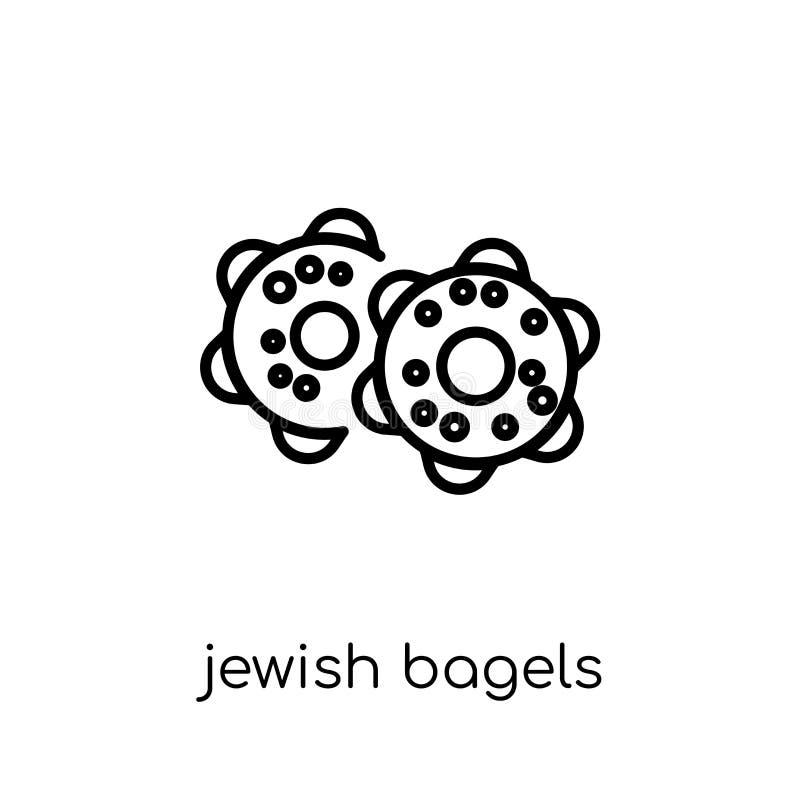 Joods Ongezuurde broodjespictogram E royalty-vrije illustratie