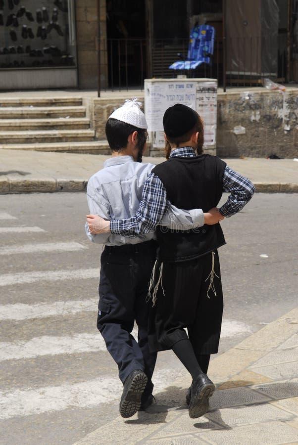 Joods orthodox district royalty-vrije stock afbeeldingen