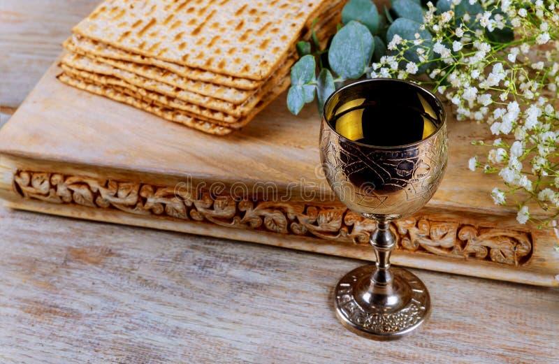 Joods passoverbrood van de vakantie matzoth viering matzoh torah royalty-vrije stock foto's