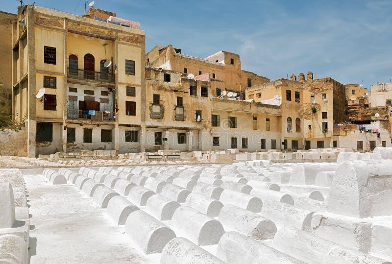 Joodse begraafplaats in Fez, Marokko stock foto's